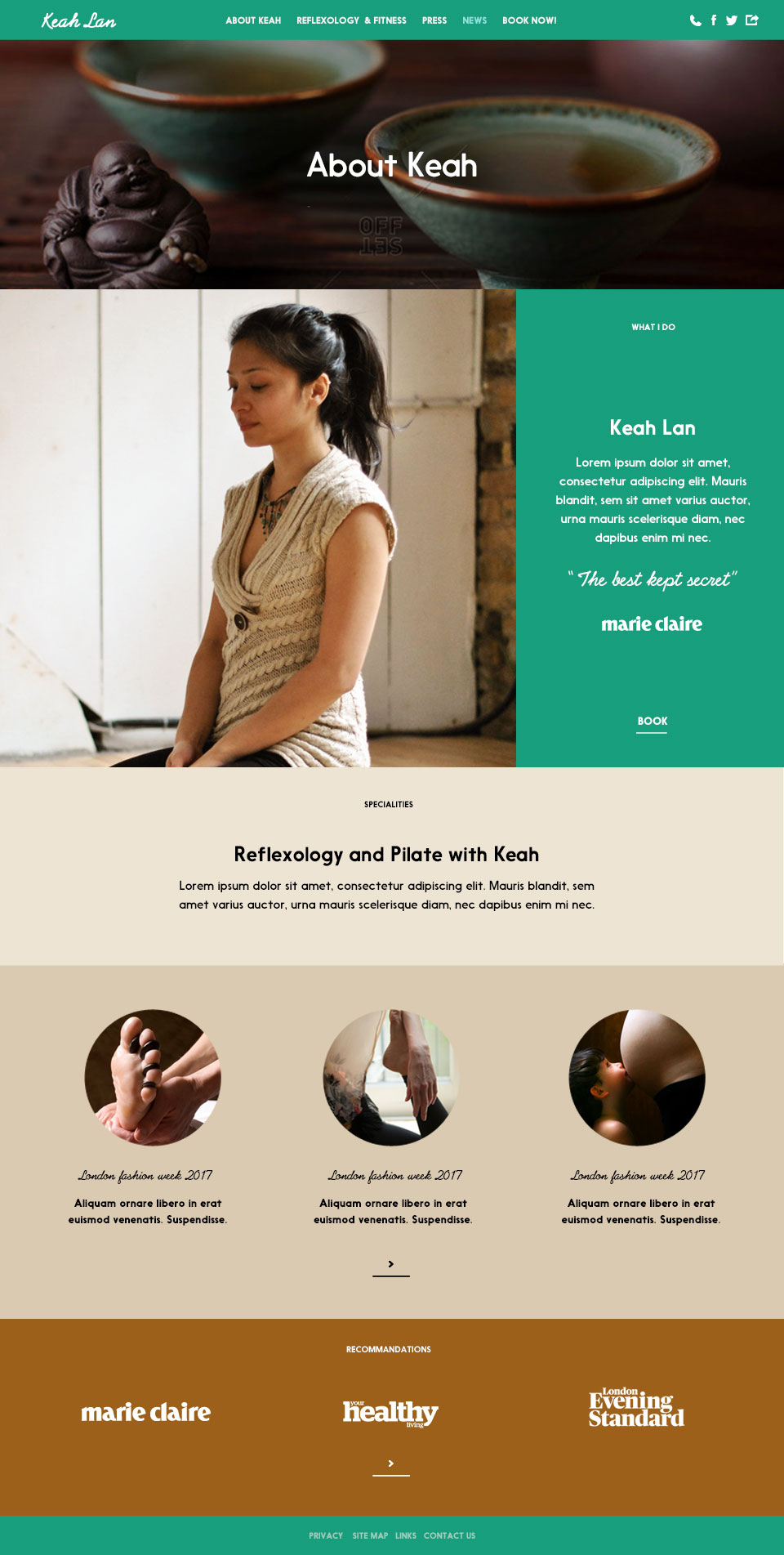 krisky krush, Keah Lan, website