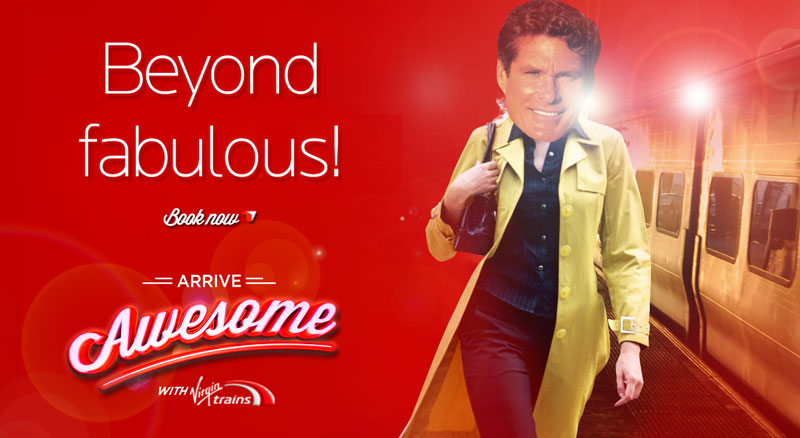 krispy krush, Virgin Trains, Arrive Awesome, single traveller banner
