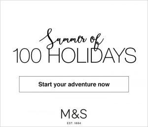 krispy krush, M&S, Summer of 100 holidays, banner