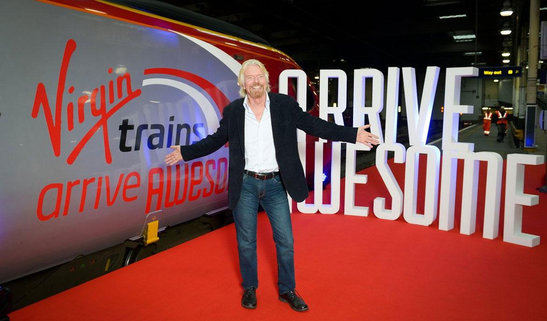 krispy krush, Virgin Trains, Richard Branson
