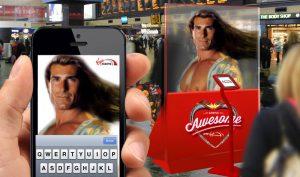 krispy krush, Virgin Trains, Arrive Awesome, Welcome hologram