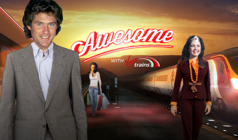 krispy krush, Virgin Trains, Arrive Awesome, concept