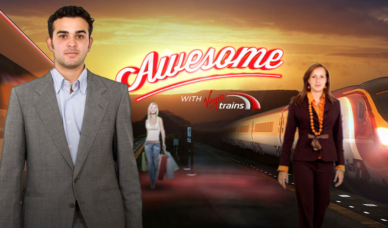 krispy krush, Virgin Trains, Arrive Awesome, concept