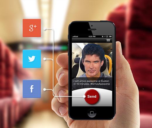 krispy krush, Virgin Trains, Arrive Awesome, App